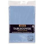 Amscan 84 Pastel Blue Plastic Tablecover