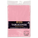 Amscan 84 Pink Plastic Rnd Tablecover 9pk