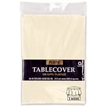 Amscan 84 Vanilla Creme Plastic Tablecover