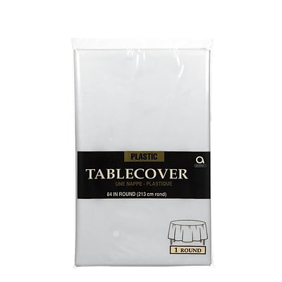 Amscan 84 Clear Plastic Round Tablecover, 9/Pack (77018.86)