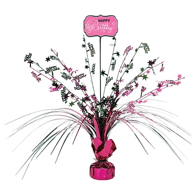 Amscan Black and Pink Spray Centerpiece; 18, 4/Pack (110270)