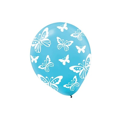 Amscan Butterfly Latex Balloons; 12, 9/Pack, 6 Per Pack (113044)