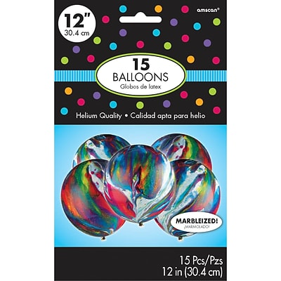 Amscan Marble Latex Balloons, 12, 6/Pack, 15 Per Pack (113053)