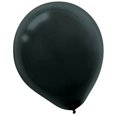 Amscan Solid Color Latex Balloons Packaged, 12, Black, 4/Pack, 72 Per Pack (113250.1)