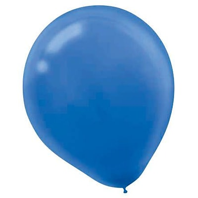 Amscan Solid Color Packaged Latex Balloons, 12, Bright Royal Blue, 4/Pack, 72 Per Pack (113250.105)