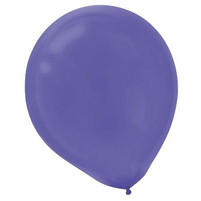 Amscan Solid Color Packaged Latex Balloons, 12, New Purple, 4/Pack, 72 Per Pack (113250.106)