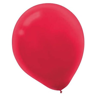 Amscan Solid Color Latex Balloons Packaged, 12, Apple Red, 4/Pack, 72 Per Pack (113250.4)