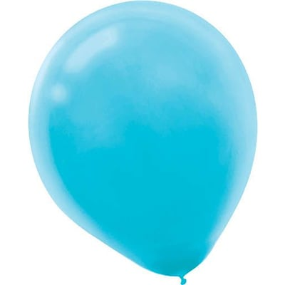 Amscan Solid Color Latex Balloons Packaged, 12, 4/Pack, Caribbean Blue, 72 Per Pack (113250.54)