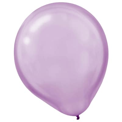 Amscan Pearlized Packaged Latex Balloons, 12, Lavender, 3/Pack, 72 Per Pack (113251.04)
