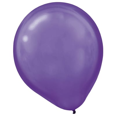 Amscan Pearlized Latex Balloons Packaged, 12, 3/Pack, New Purple, 72 Per Pack (113251.106)