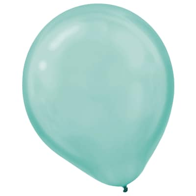 Amscan Pearlized Latex Balloons Packaged, 12, 3/Pack, Robins Egg Blue, 72 Per Pack (113251.121)