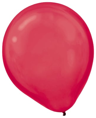 """Pearlized Latex Balloons; 12"""" 3pk Apple Red"""