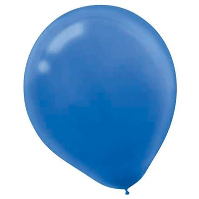 Amscan Solid Color Packaged Latex Balloons, 12, Bright Royal Blue, 18/Pack, 15 Per Pack (113252.105)