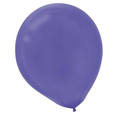 Amscan Solid Color Latex Balloons Packaged, 12, 18/Pack, New Purple, 15 Per Pack (113252.106)