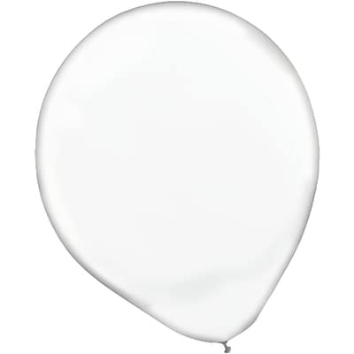 Amscan Solid Color Latex Balloons Packaged, 12, 18/Pack, Clear, 15 Per Pack (113252.86)