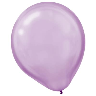 Amscan Pearlized Latex Balloons Packaged, 12, 16/Pack, Lavender, 15 Per Pack (113253.04)
