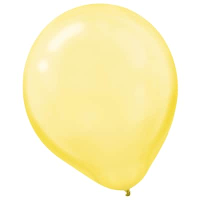 Amscan Pearlized Latex Balloons Packaged, 12, 16/Pack, Yellow Sunshine, 15 Per Pack (113253.09)