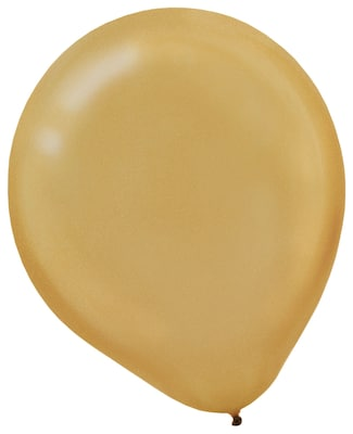 "Pearlized Latex Balloons; 12"" 16pk Gold"