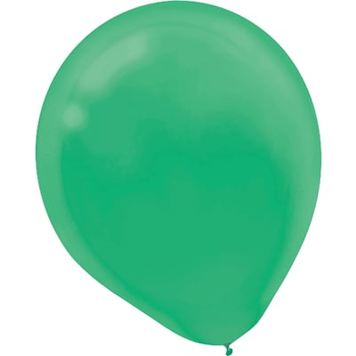 Amscan Solid Color Latex Balloons Packaged, 9, 18/Pack, Festive Green, 20 Per Pack (113255.03)