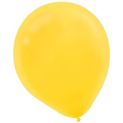 Amscan Solid Color Latex Balloons Packaged, 9, 18/Pack, Yellow Sunshine, 20 Per Pack (113255.09)