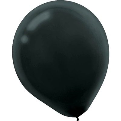 Amscan Solid Color Latex Balloons Packaged, 9, 18/Pack, Black, 20 Per Pack (113255.1)