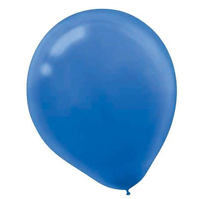 Amscan Solid Color Latex Balloons Packaged, 9, 18/Pack, Bright Royal Blue, 20 Per Pack (113255.105)