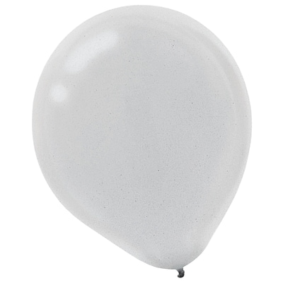 Amscan Pearl Latex Balloons, 18/Pack, Silver, 20 Per Pack (115255.18)