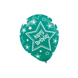 Amscan Happy Birthday Stars Latex Balloons, 12, Assorted Colors, 3/Pack, 20 Per Pack (115493)