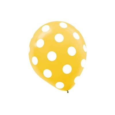 Amscan Primary Colored Dots Latex Balloons, 12, 3/Pack, Assorted, 20 Per Pack (115496)