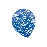 Amscan Birthday Confetti Latex Balloons, 12, Bright Royal Blue, 9/Pack, 6 Per Pack (115800.105)