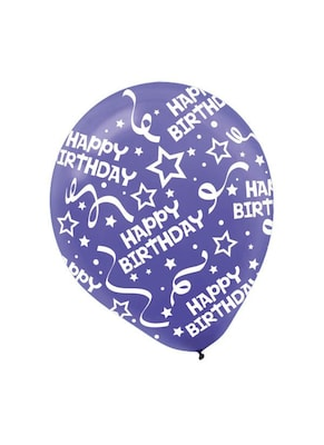 Birthday Confetti Latex Balloons New Purple