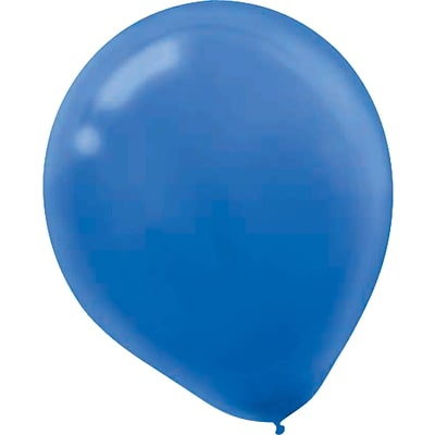 Amscan Solid Color Latex Balloons Packaged, 5, Bright Royal Blue, 6/Pack, 50 Per Pack (115920.105)