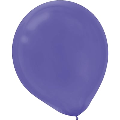 Amscan Solid Color Latex Balloons, Packaged, 5, New Purple, 6/Pack, 50 Per Pack (115920.106)
