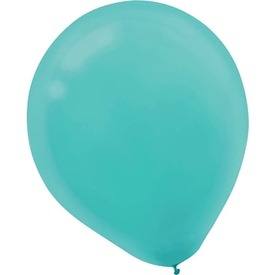 Amscan Solid Color Packaged Latex Balloons, 5, Robins Egg Blue, 6/Pack, 50 Per Pack (115920.121)