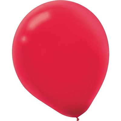 Amscan Solid Color Latex Balloons Packaged, 5, 6/Pack, Apple Red, 50 Per Pack (115920.4)