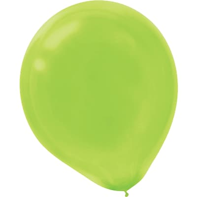 Amscan Solid Color Latex Balloons Packaged, 5, 6/Pack, Kiwi, 50 Per Pack (115920.53)