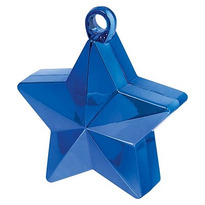 Amscan Star Foil Balloon Weights, 6oz, Blue, 12/Pack (117800.01)