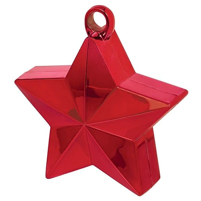 Amscan Star Balloon Weight, 6oz, Red Foil, 12/Pack (117800.07)