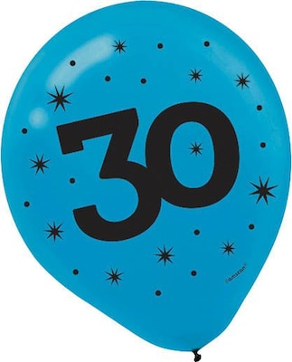 Amscan Printed Latex Balloons 30 Assorted