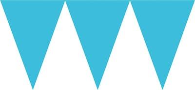 Amscan Paper Pennant Banner; 15' Blue 6pk