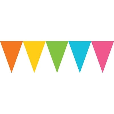 Amscan Paper Pennant Banner, 15, Multicolored, 6/Pack (120099.90)