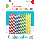 Spiral Birthday Candles Primary Assorted