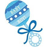 Blue Baby Rattle Cutout 15x7.5 10pk
