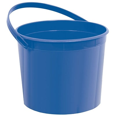 Amscan Plastic Bucket; 6.25, Royal Blue, 12/Pack (268902.105)