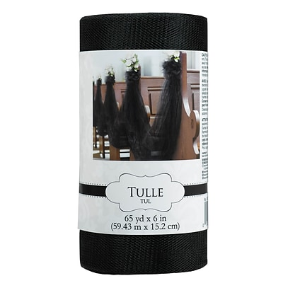 Amscan Tulle Spools; 65yds x 6, Black, 2/Pack (340053.1)