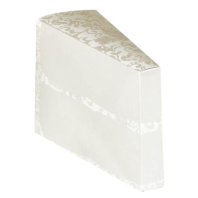 Amscan Cake Slice Boxes, 4.25 x 2.75, 24/Pack (340236)
