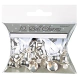 Amscan Double Bell Charms; 0.5 Silver 5pk