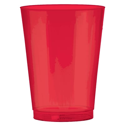 Amscan 10oz Apple Red Big Party Pack Plastic Cups, 2/Pack, 72 Per Pack (350363.4)