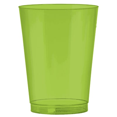 Amscan Big Party Pack 10oz Kiwi Plastic Cups, 2/Pack, 72 Per Pack (350363.53)
