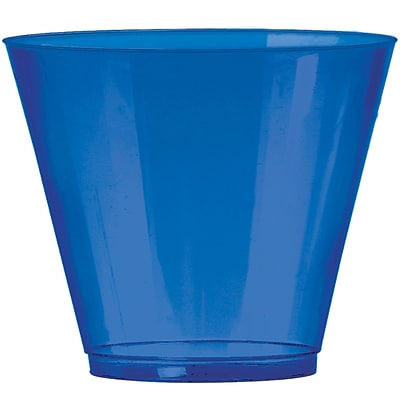 Amscan 9oz Bright Royal Blue Big Party Pack Plastic Cups, 2/Pack, 72 Per Pack (350366.105)